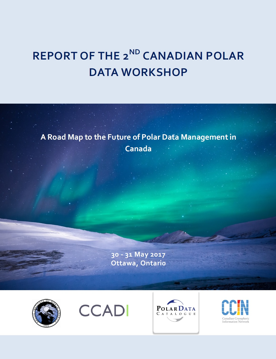 Report of the 2nd Canadian Polar Data Workshop